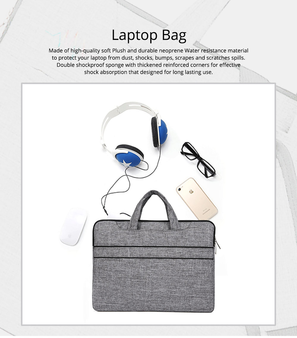 Waterproof Laptop Bag 13 inch 14 inch 15 inch, Laptop Shoulder Bag Multi-functional Notebook Sleeve Carrying Case With Strap 0