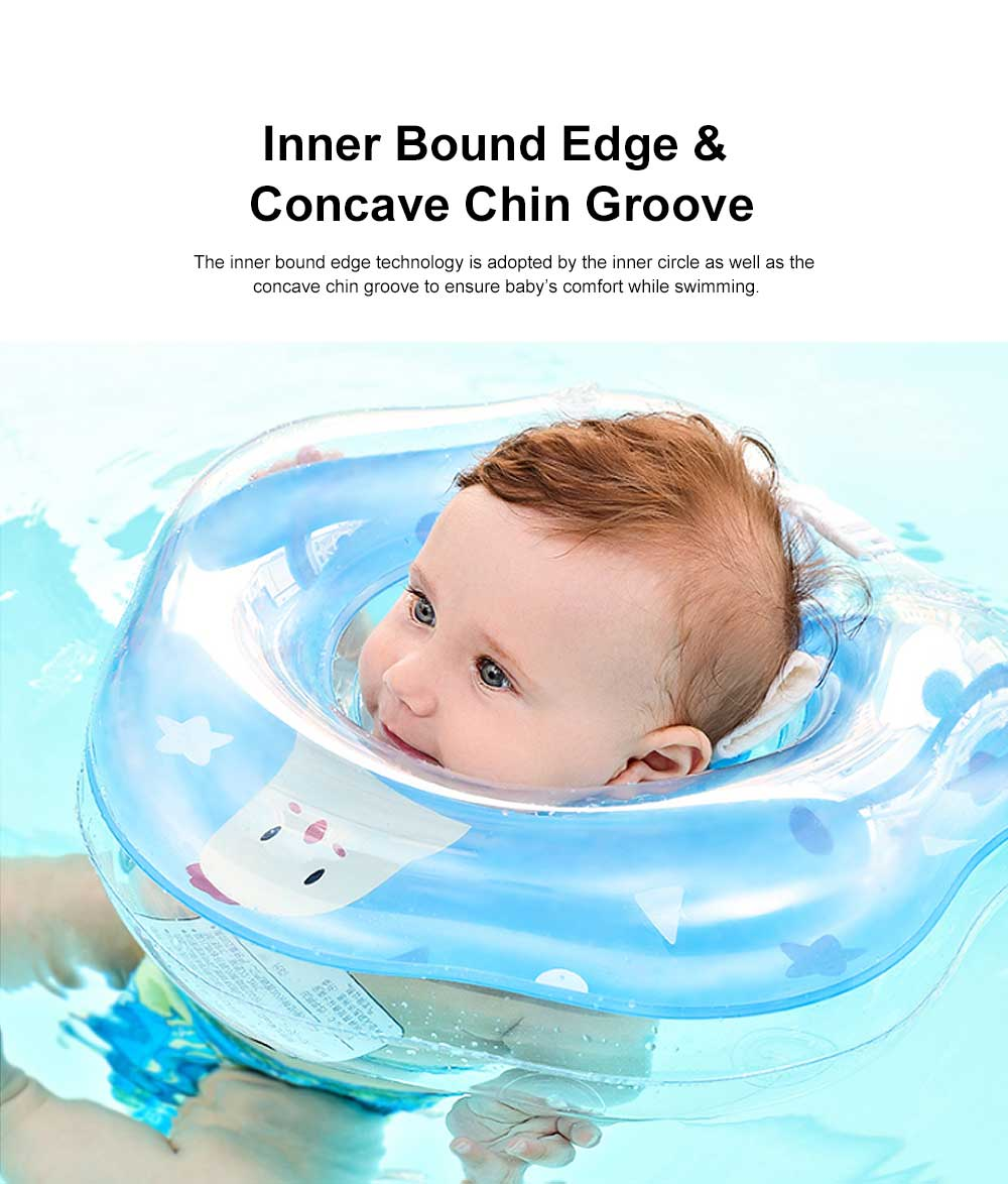 Swimming Ring for Training Babies Swimming, One to Twelve Months Floaties Chocking Proof Swimming Chokers, Double Layer Air Bag Floaties 3