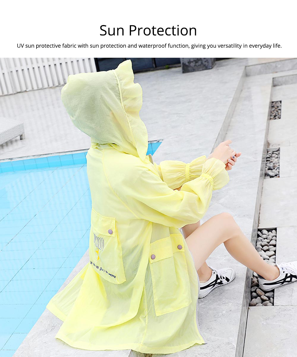 Women UV Protection Jacket, Ultra Thin Breathable Sunscreen Summer Clothes for Outdoors 2019 1