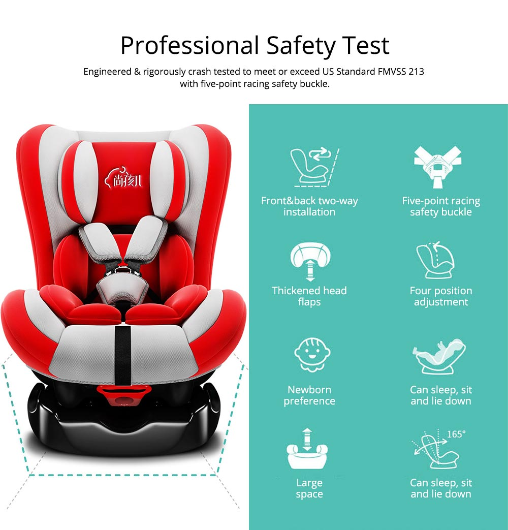 Children's Booster Seat Large Auto Car Seat Protectors for Child, Baby Safety Seat Thick Padding Car Seat 1
