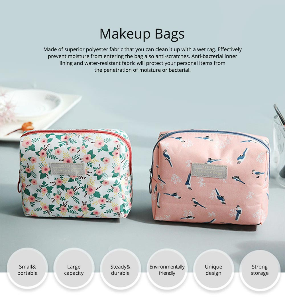 Portable Makeup Bags for Lipstick, Toner, Cream, Small Cosmetic Case Makeup Organizer for Women, Hotel, Home, Travel Essentail Storage Bags 0