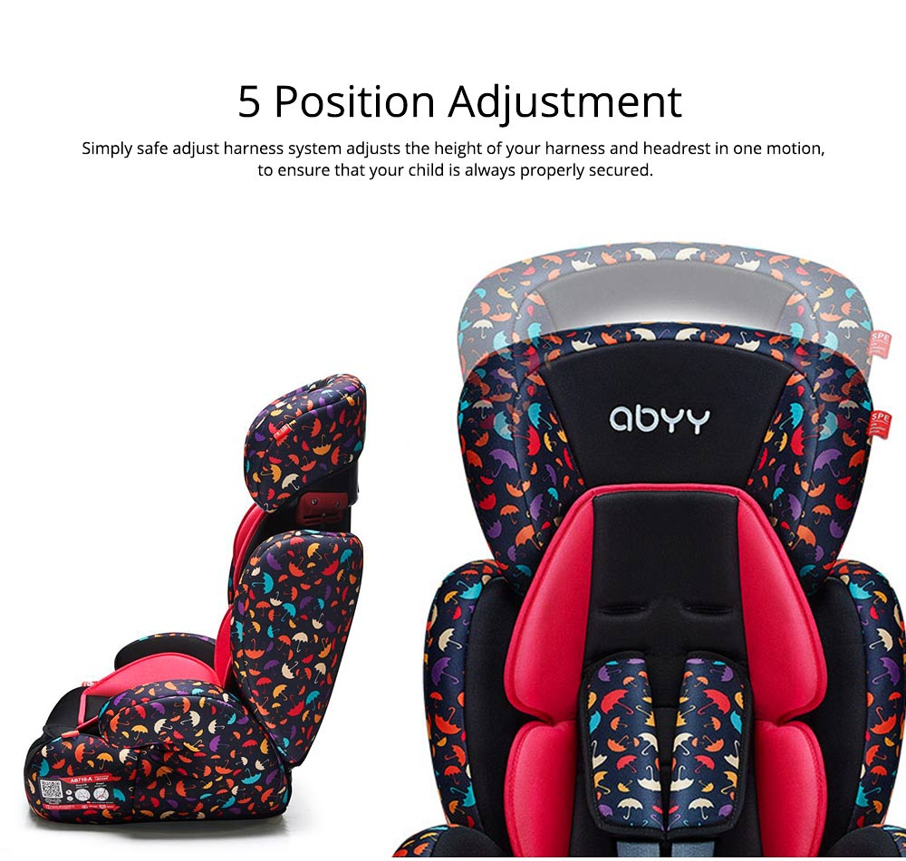 Children's Booster Seat, Large Auto Car Seat Protectors for Child, Baby Safety Seat Thick Padding Lightweight Car seat 2