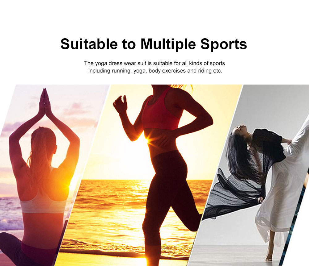 Skin-friendly Yoga Wear Suit, Loose Performance Wear Large Size, Loose Clothes Suit Fitness Dress Suit for Women 2019 1