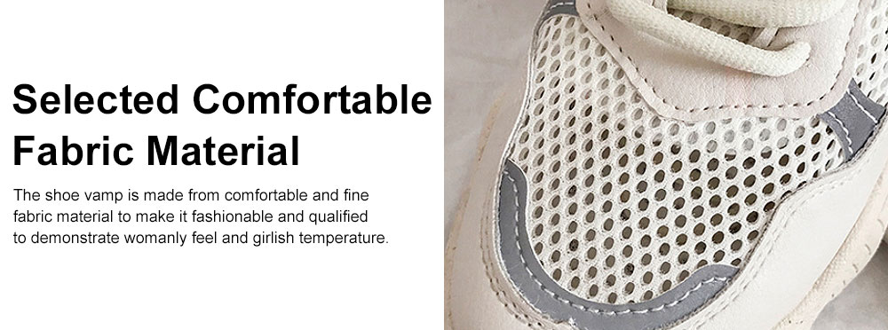 Instagram Clunky Sneakers for Women Student, Mesh Fabric Breathable Torre Shoes, Thick Sole Elevator Shoes 2019 2