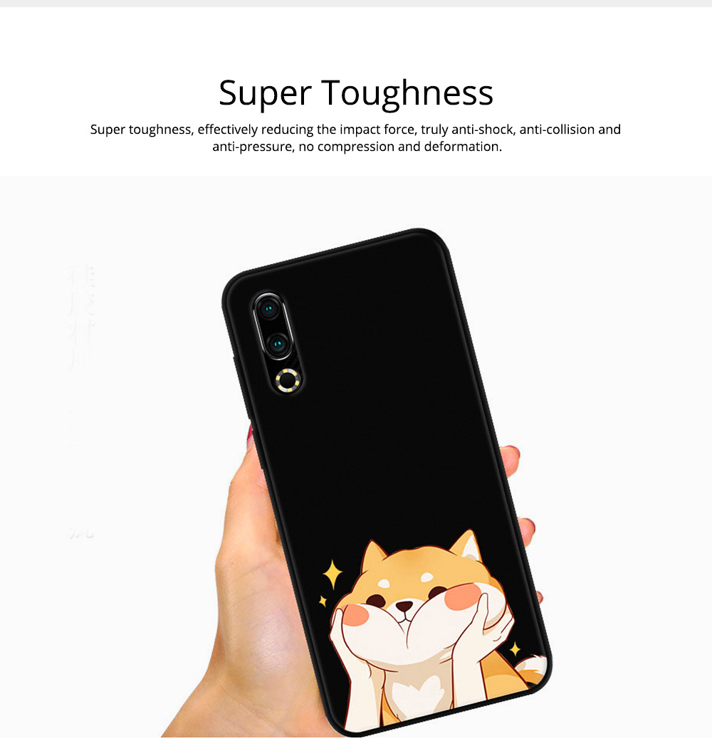 Soft Silicone TPU Cover Case, Thin Phone Protection Shell, Shock Absorption Soft Cover for Meizu 16S 1