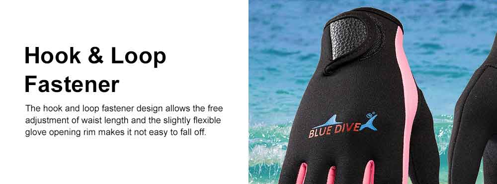 Diving Gloves for Divers, Wear Resistant Diving-dedicated Gloves, Underwater Working Gloves for Snorkeling, Diving, Winter Swimming, Surfing  4