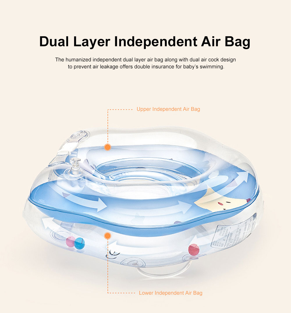 Swimming Ring for Training Babies Swimming, One to Twelve Months Floaties Chocking Proof Swimming Chokers, Double Layer Air Bag Floaties 2
