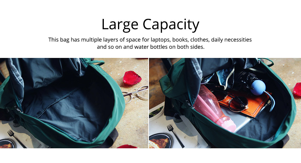 Fashion Backpack with Waterproof Nylon School Bag, Large Capacity Shoulder Bag for Women 4