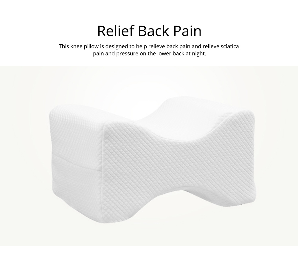 Memory Foam Pillows, Provide Ultimate Support for Back Side Sleepers with Pillow Cover Knee Pillow  1