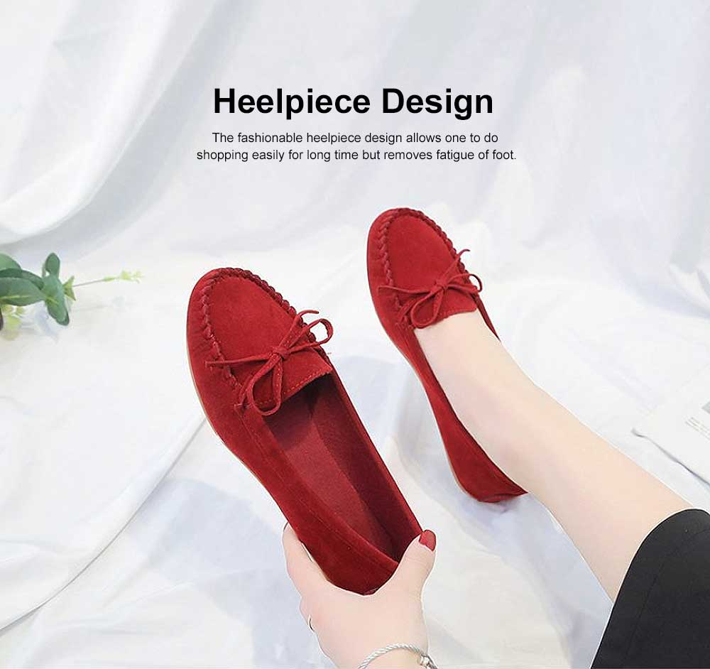 Women's Flat Shoes, Ultra-comfortable Slip-ons Loafers for Ladies, Pregnant Women, Bow Decorated Casual Shoes 1