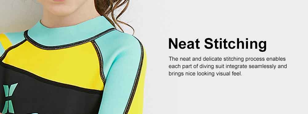 Diving Suit for Girls, 2.5MM One-piece Diving Dress, Thermal Diveing Surfing Dress Snorkeling Jumpsuit, Winter Swimsuit 2019 8