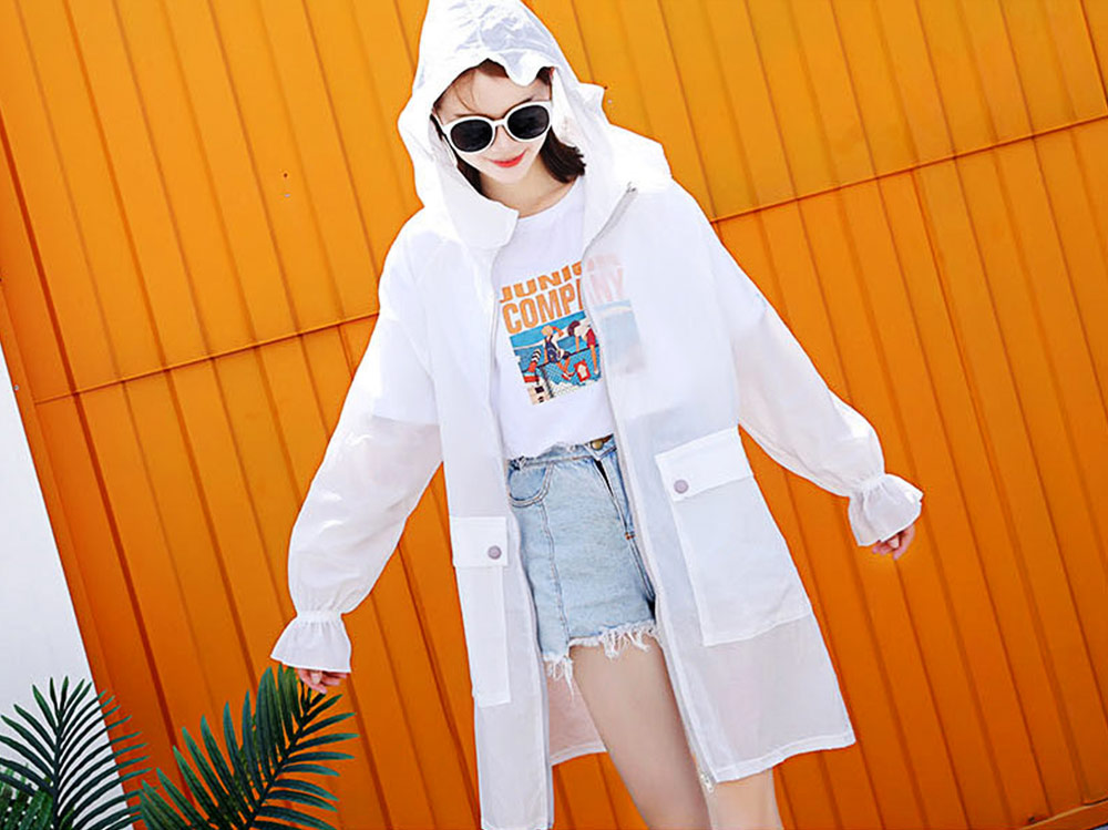 Women UV Protection Jacket, Ultra Thin Breathable Sunscreen Summer Clothes for Outdoors 2019 5