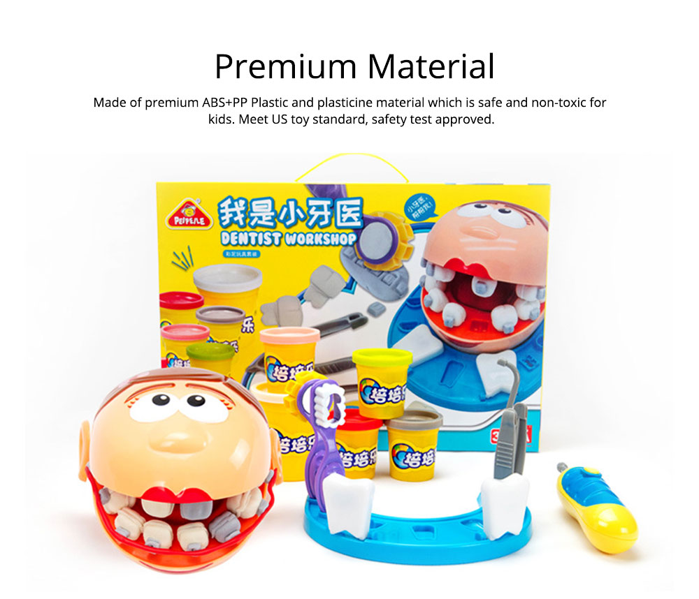 Doctor Kit Toy for Kids, Dentist Medical Kit Pretented Play Safe Educational Plasticine Toys, Perfect Kids Gift for Christmas, Children's Day 3
