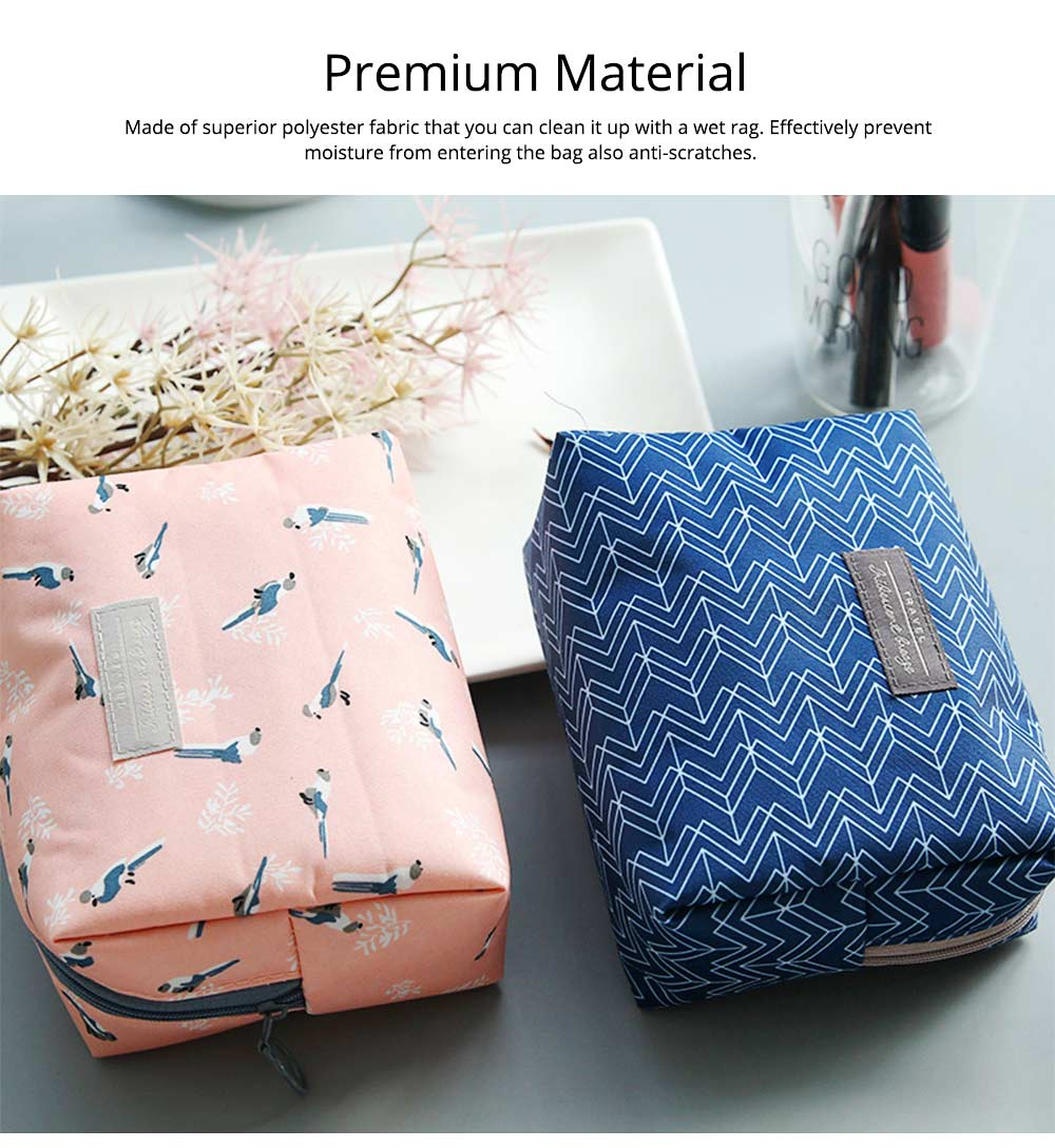 Portable Makeup Bags for Lipstick, Toner, Cream, Small Cosmetic Case Makeup Organizer for Women, Hotel, Home, Travel Essentail Storage Bags 3