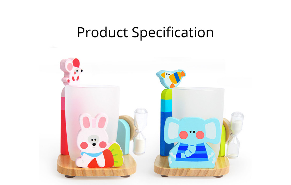 Cartoon Toothbrush Holder Set, Kids Toothbrush Cup Glass with 3 Minutes Sandglass, Timer, Best Gifts for Kids 7
