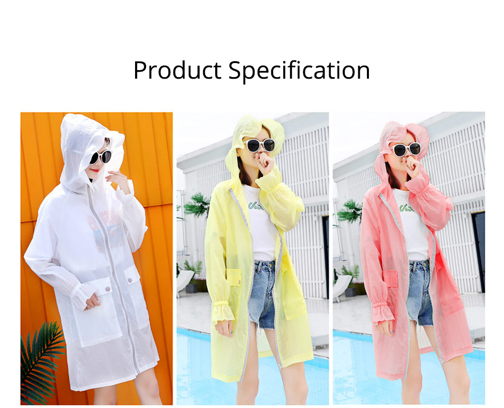 Women UV Protection Jacket, Ultra Thin Breathable Sunscreen Summer Clothes for Outdoors 2019 7
