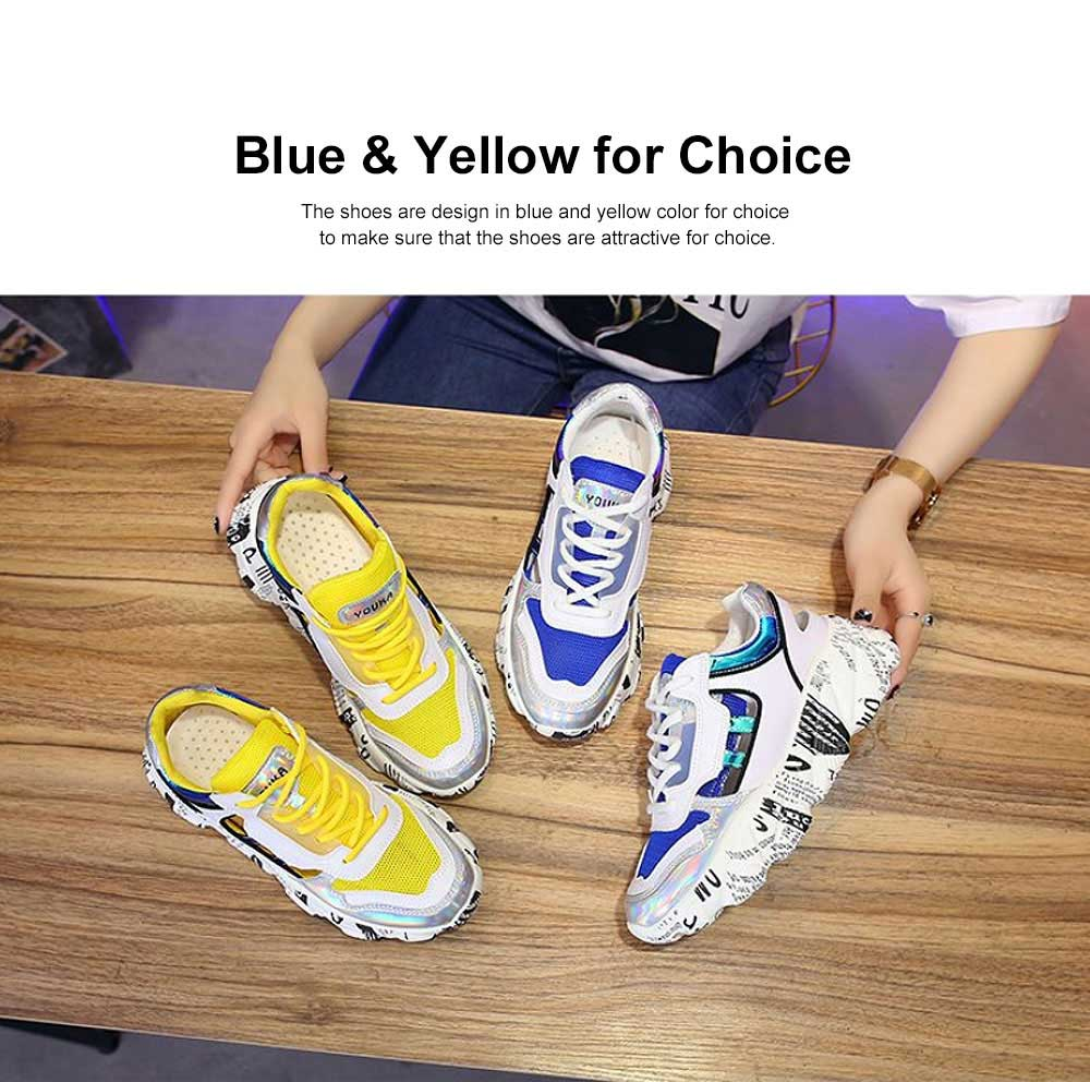 Thick Sole Hollow-out Sports Shoes for Outdoors, Mesh Vamp Casual Clunky Sneaker, All-match Torre Shoes 2019 Spring Summer 1
