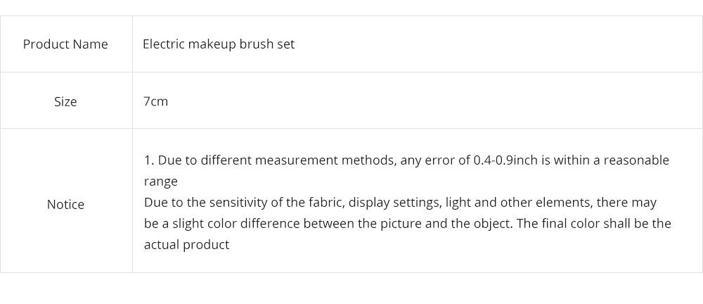 USB Charging Electric Makeup Brush Set, Automatic Cosmetic Brush Spinner with Foundation Powder Brush Head 8