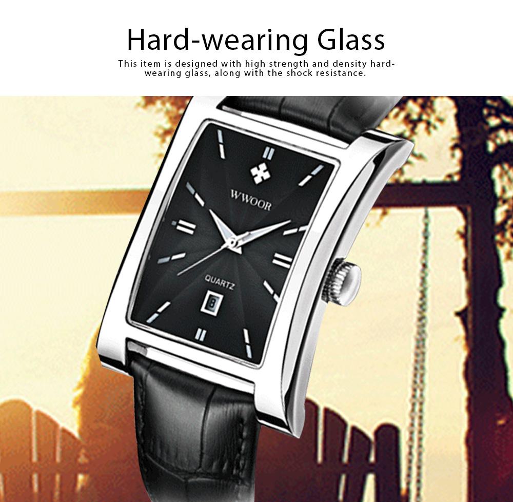 Luxury Wrist Watch for Men, High Quality Leather Strap Watch with Calendar, Waterproof Men's Watch 2