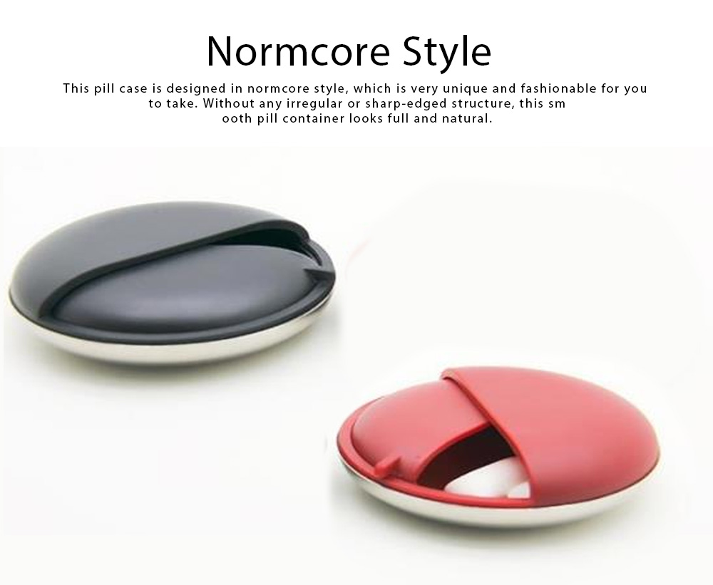 Matte Texture Pill Case Innovative High Quality Alloy Material Container for Medicine Candy Jewelry Pill Storage Box 1