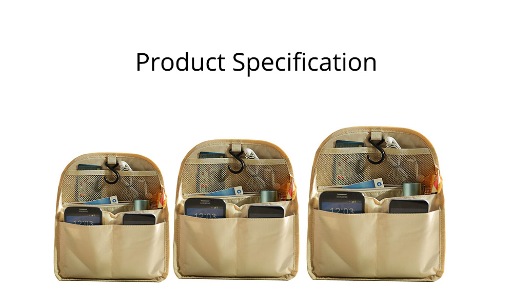 Travel Organizer Bag, Portable Makeup Bag with Hanging Hook, Large Capacity Cosmetic Storage Bag  7