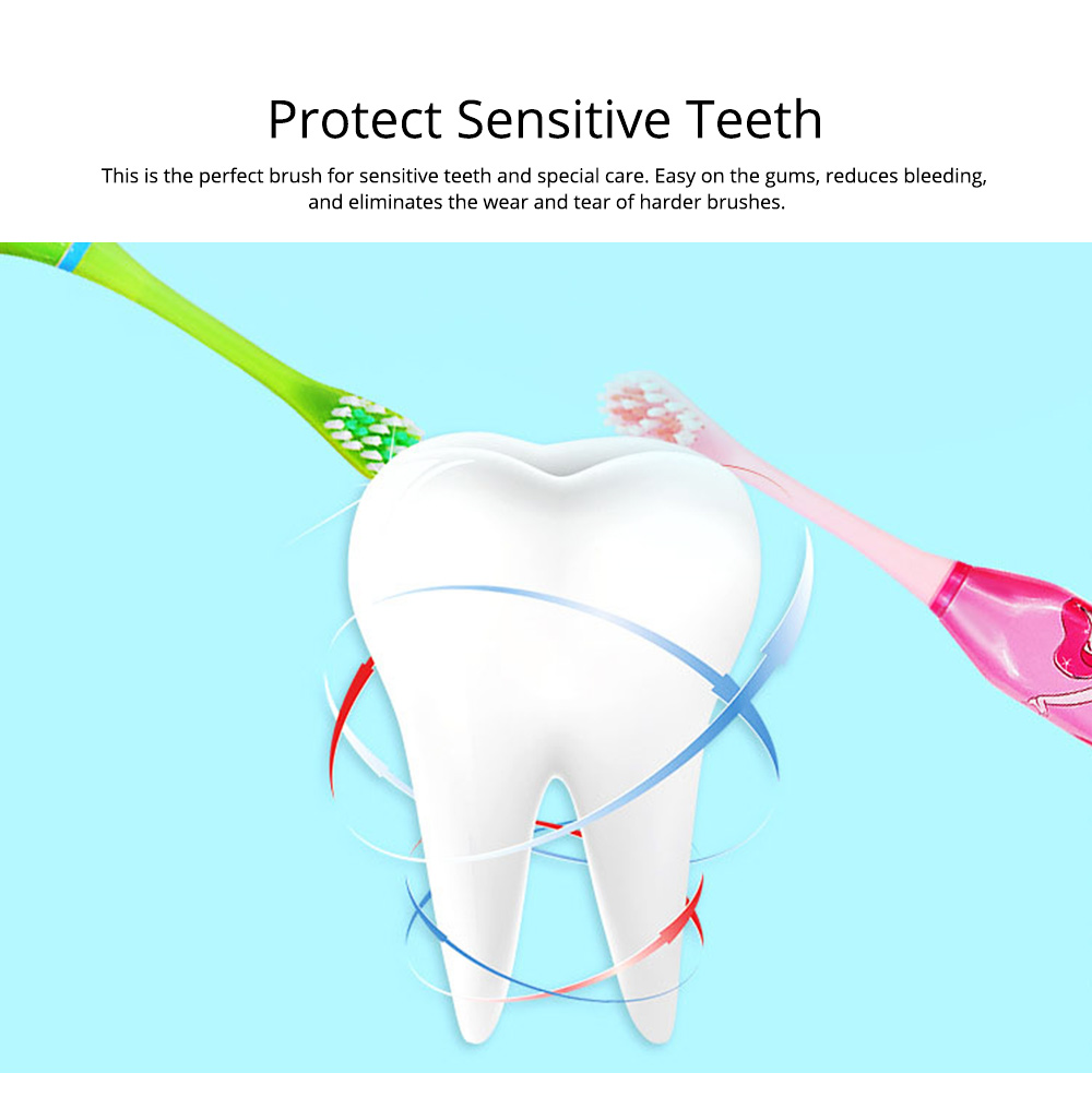 Kids Electric Toothbrush, Antimicrobial Floss Soft Bristles Waterproof Toothbrush for Travel, Sonic Electronic Toothbrushes for Kids 4