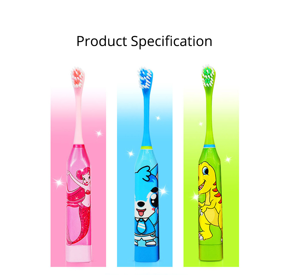Kids Electric Toothbrush, Antimicrobial Floss Soft Bristles Waterproof Toothbrush for Travel, Sonic Electronic Toothbrushes for Kids 7