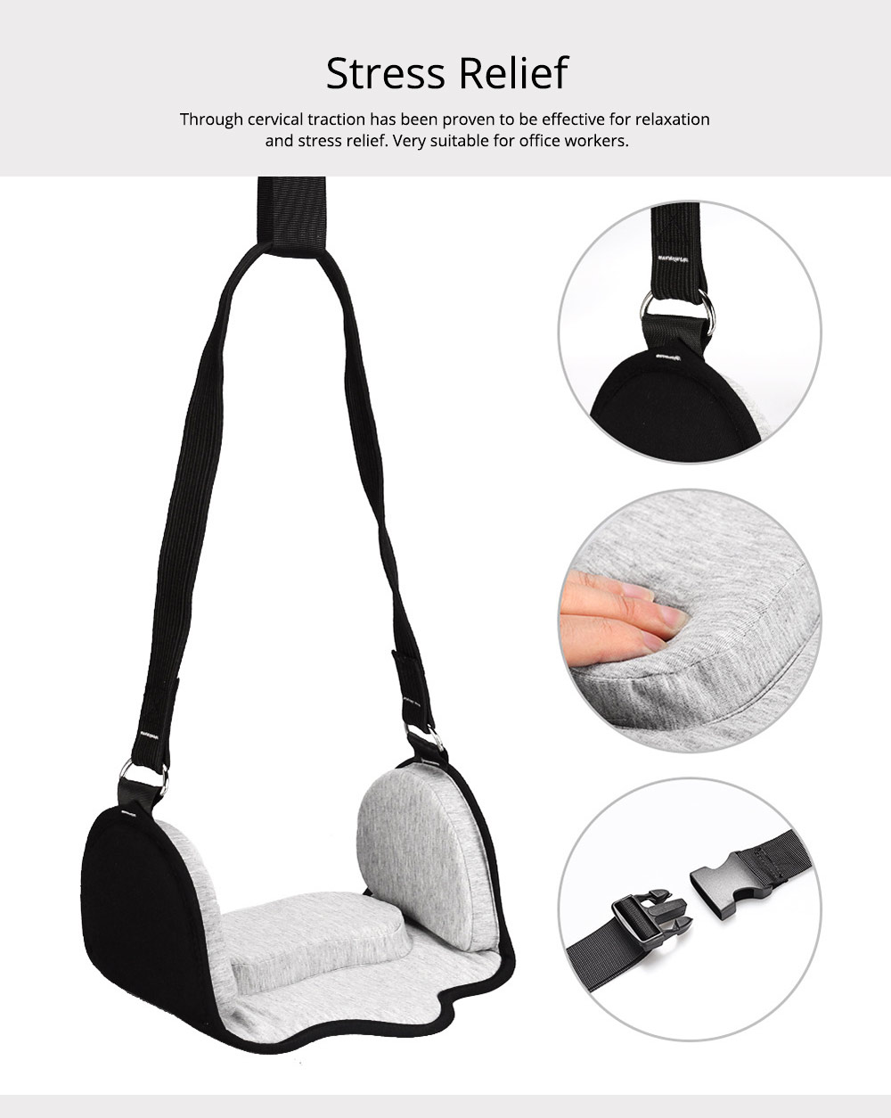 Neck Hammock Cervical Traction Device, Head Hammock for Neck Pain Relief for Office Workers, Drivers, Students, Teachers 1