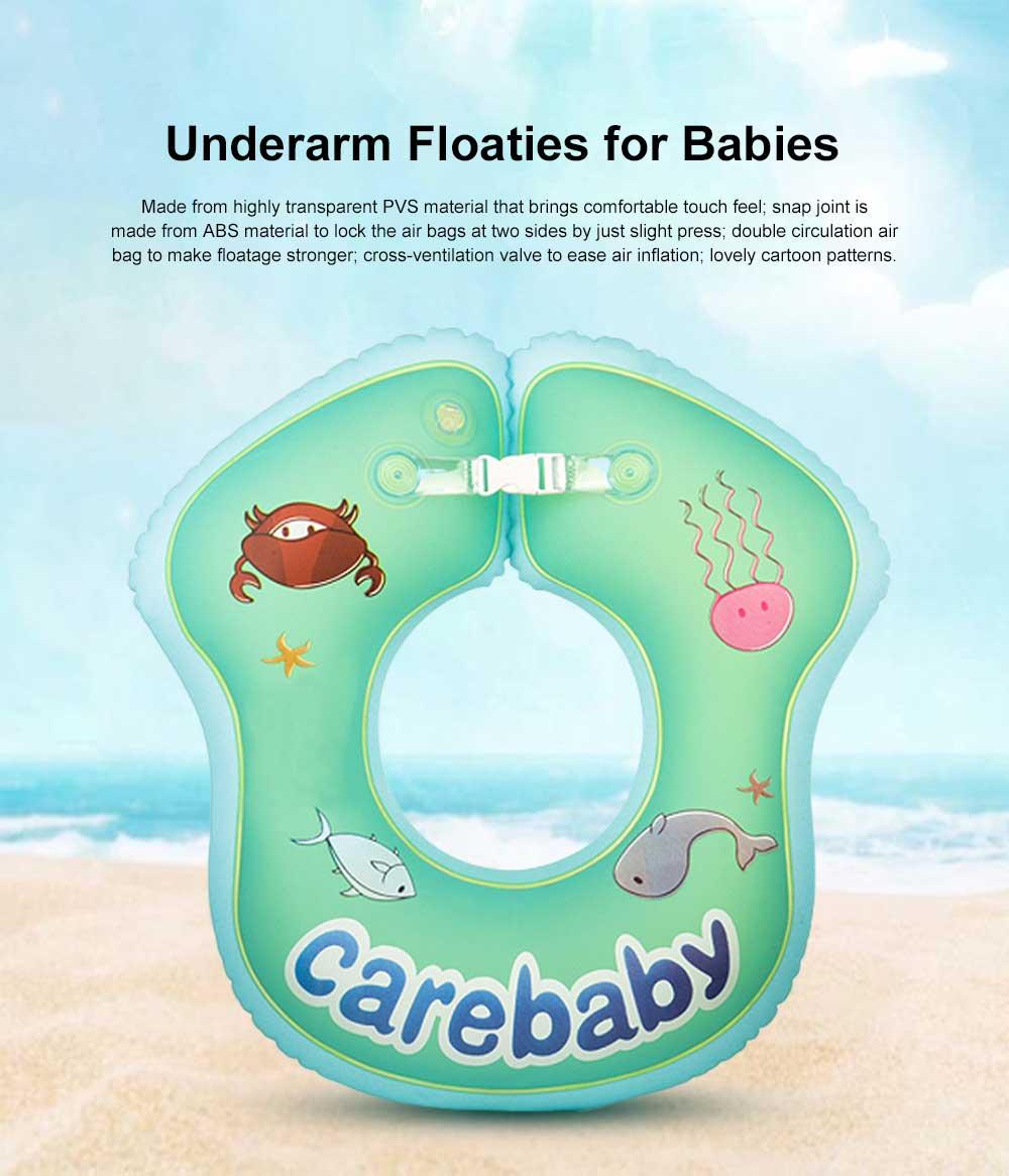 Children's Floating Ring Swim Ring for Baby Swimming, Baby Bathing,Underarm Swim Rings for Children 1 to 6 Years Infants, Newborns Sitting Thickened Floaties 0