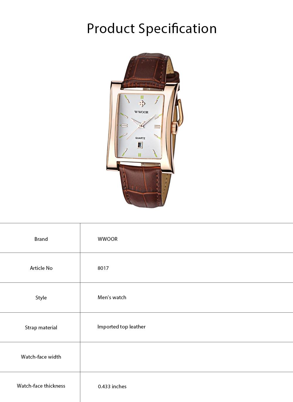 Luxury Wrist Watch for Men, High Quality Leather Strap Watch with Calendar, Waterproof Men's Watch 5