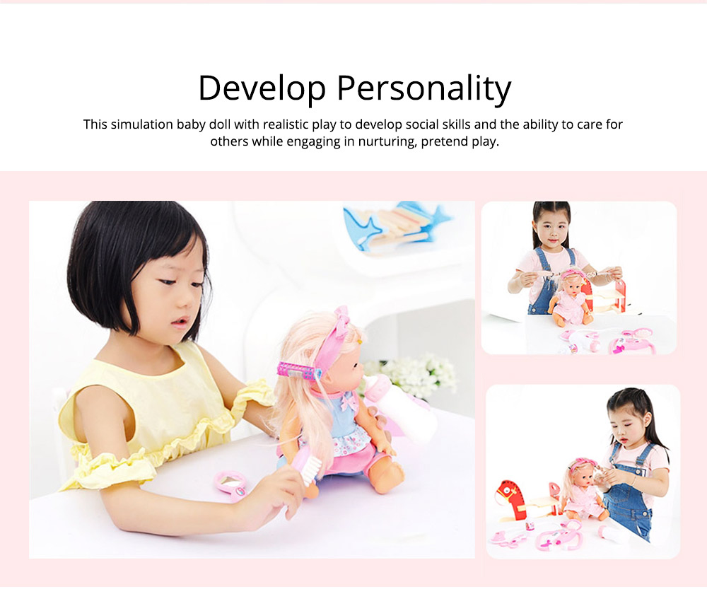 Simulation Soft Dolls, Reborn Baby Dolls for Baby Pretented Play, Realistic Looking Newborn Baby Girl Doll with Sound and Multiple Gameplay 1