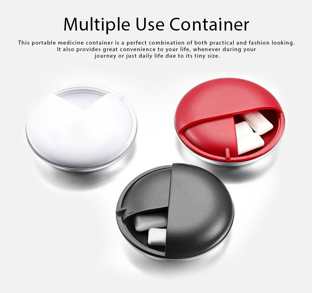 Matte Texture Pill Case Innovative High Quality Alloy Material Container for Medicine Candy Jewelry Pill Storage Box 0