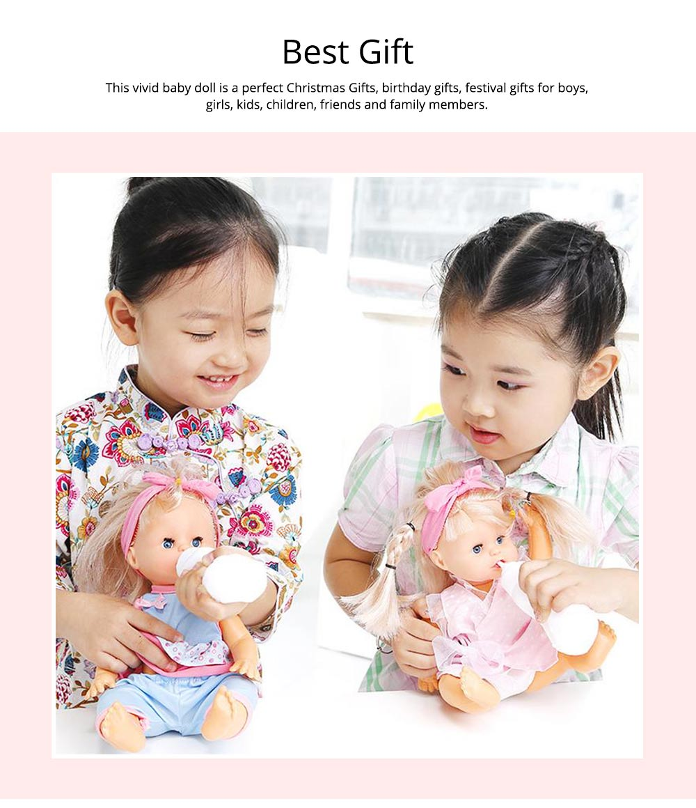 Simulation Soft Dolls, Reborn Baby Dolls for Baby Pretented Play, Realistic Looking Newborn Baby Girl Doll with Sound and Multiple Gameplay 6