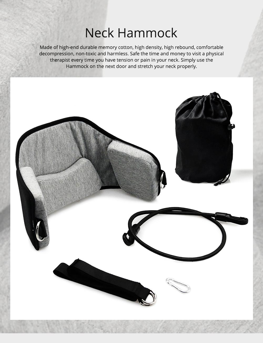 Neck Hammock Cervical Traction Device, Head Hammock for Neck Pain Relief for Office Workers, Drivers, Students, Teachers 0