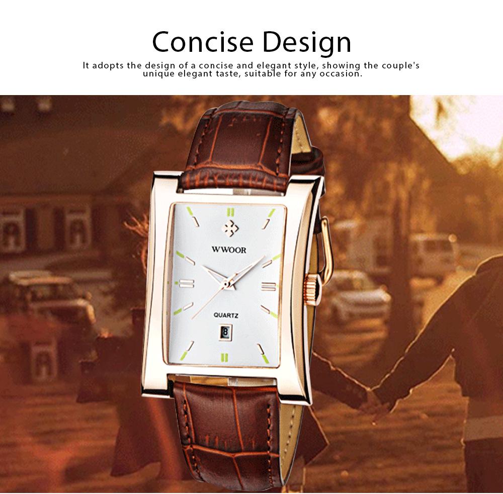 Luxury Wrist Watch for Men, High Quality Leather Strap Watch with Calendar, Waterproof Men's Watch 1