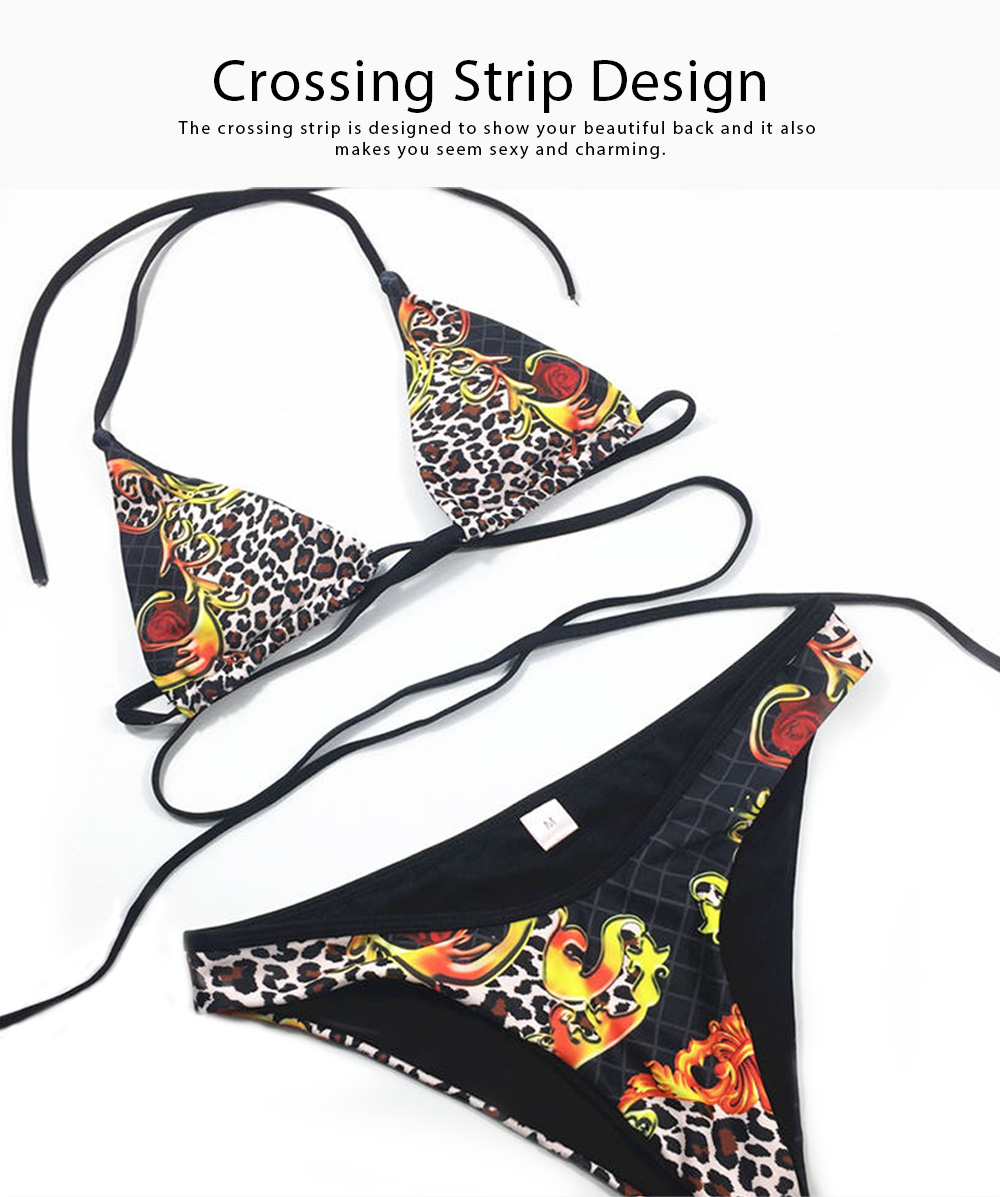 2019 Split Style Bikini, Sexy Fashionable Lace-up Style Swimsuit, Terylene Material Swim Wear 2