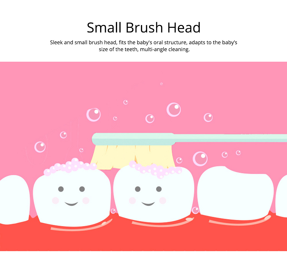 Kids Electric Toothbrush, Antimicrobial Floss Soft Bristles Waterproof Toothbrush for Travel, Sonic Electronic Toothbrushes for Kids 3