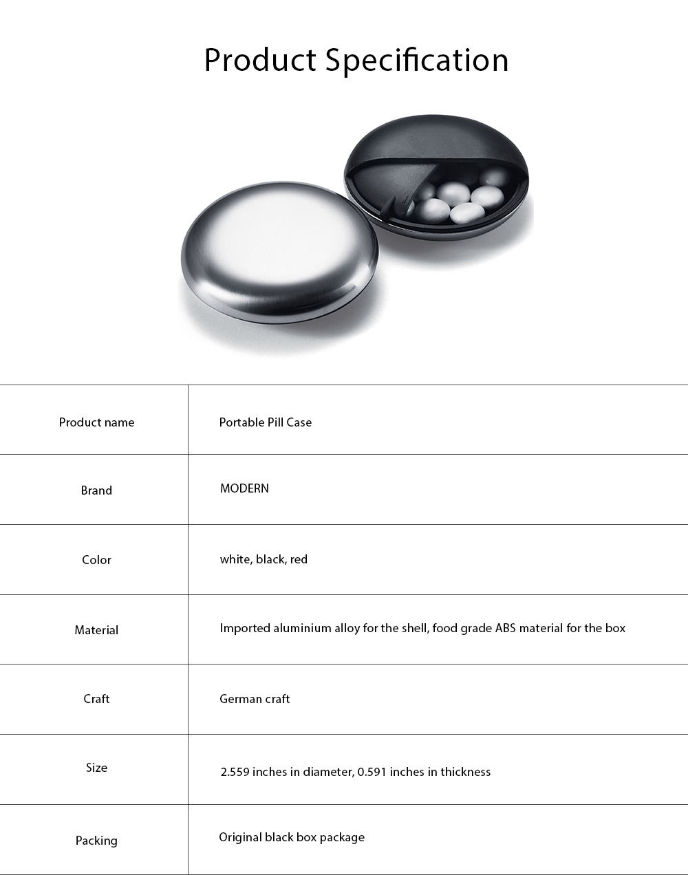 Matte Texture Pill Case Innovative High Quality Alloy Material Container for Medicine Candy Jewelry Pill Storage Box 7