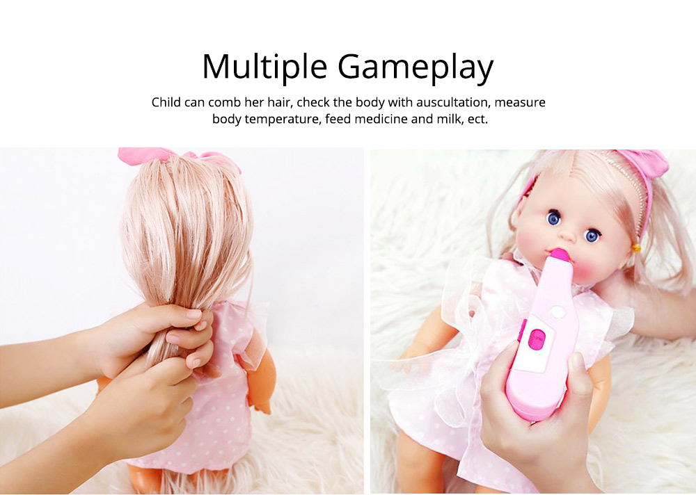 Simulation Soft Dolls, Reborn Baby Dolls for Baby Pretented Play, Realistic Looking Newborn Baby Girl Doll with Sound and Multiple Gameplay 4