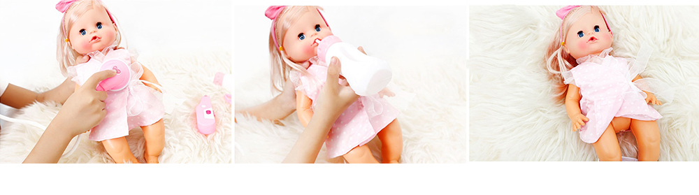 Simulation Soft Dolls, Reborn Baby Dolls for Baby Pretented Play, Realistic Looking Newborn Baby Girl Doll with Sound and Multiple Gameplay 5