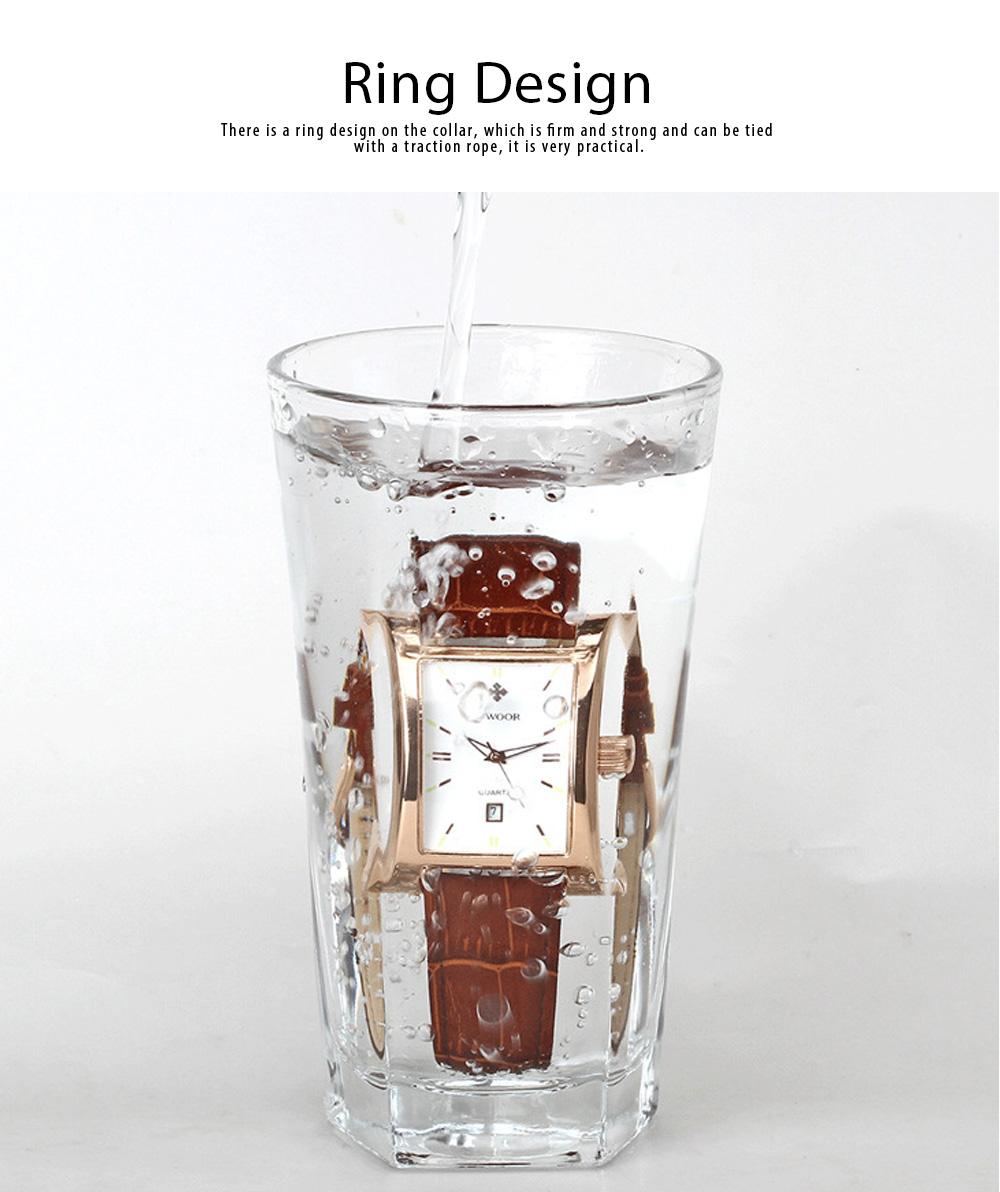 Luxury Wrist Watch for Men, High Quality Leather Strap Watch with Calendar, Waterproof Men's Watch 4