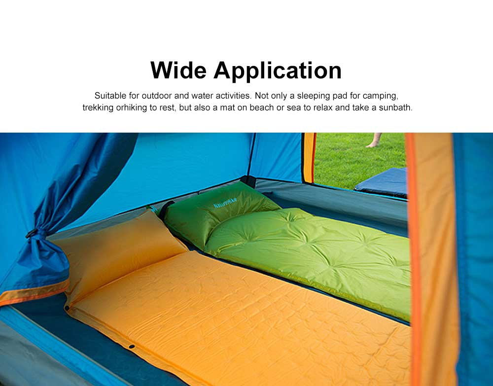 Tent Pads Waterproof Self-inflating Sleeping Pad, Camping Mattress with Pillow for Outdoor Camping, Hiking, Backpacking 1