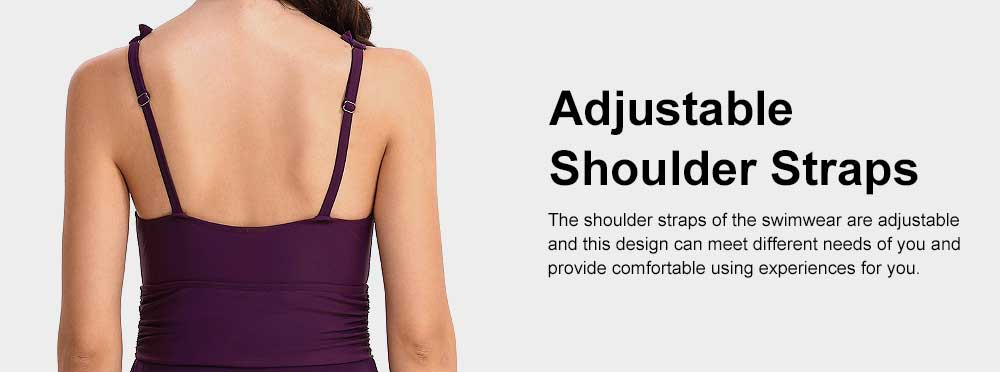 Minimalist Sexy Slim Fit Lady Swimsuit with Deep V-neck, Ultra-smooth Elastic Nylon Polyester Swimwear for Women 3