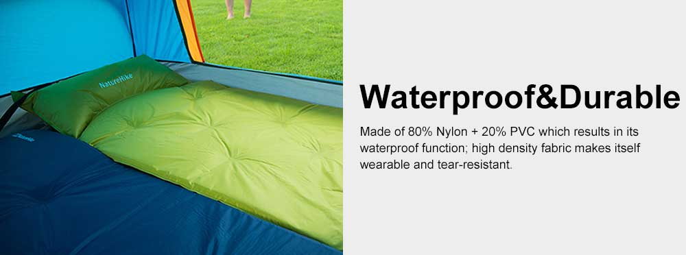 Tent Pads Waterproof Self-inflating Sleeping Pad, Camping Mattress with Pillow for Outdoor Camping, Hiking, Backpacking 5