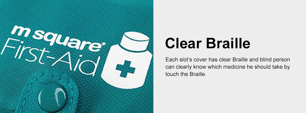 Minimalist Outdoor Moisture-proof Pill Case Box with Nylon First-aid Packet, 6 Separate Compartments Waterproof Medicine Storage Organizer Case 4