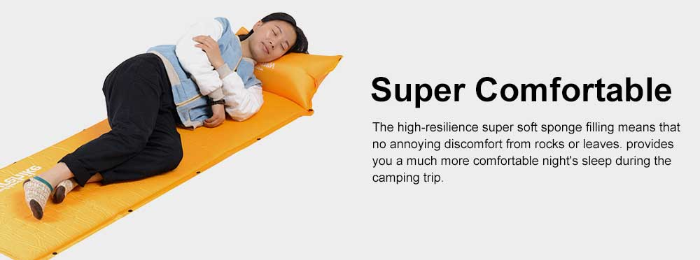 Tent Pads Waterproof Self-inflating Sleeping Pad, Camping Mattress with Pillow for Outdoor Camping, Hiking, Backpacking 3