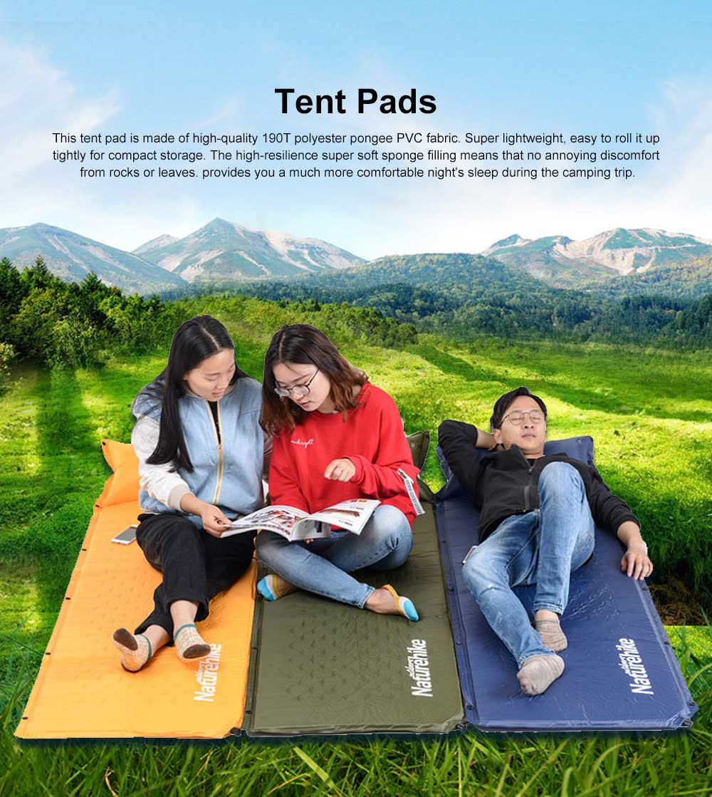 Tent Pads Waterproof Self-inflating Sleeping Pad, Camping Mattress with Pillow for Outdoor Camping, Hiking, Backpacking 0