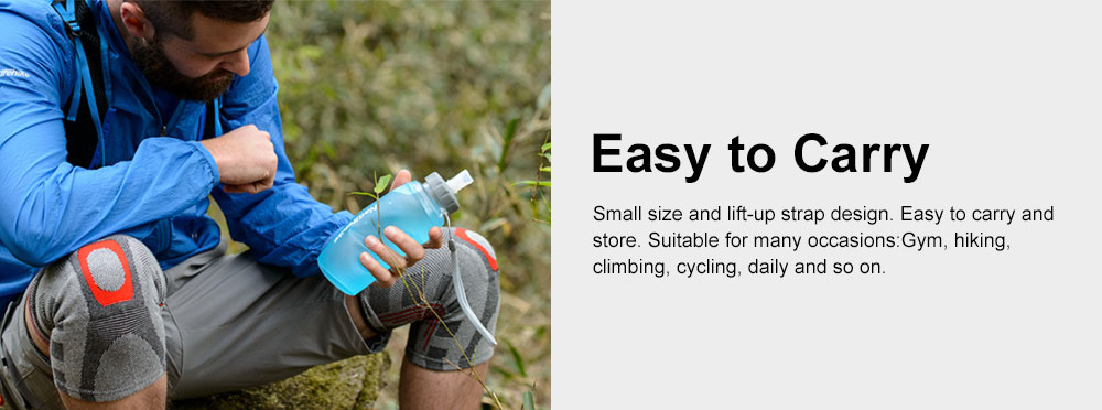 Collapsible Water Bottle TPU Lightweight Water Bottles Great for Sport Gym Yoga Swimming Fitness Travel Running Outdoor Drinking Bottle 5