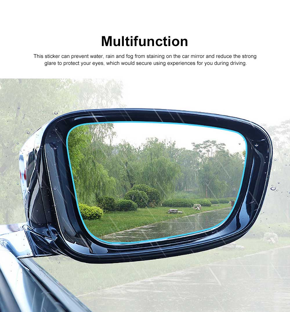 HD Waterproof Anti-fog Mirror Sticker for Car Rear View, Anti-glare Rain-proof Automobile Mirror Pad for Nissan Motor 1