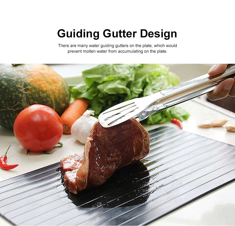 Creative Aluminum Fast Meat Defrosting Tray, Functional Frozen Steak Fish Food Metal Thawing Plate 3